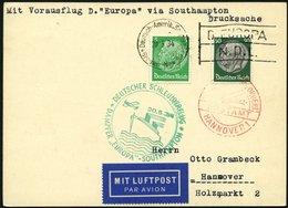 KATAPULTPOST 152c BRIEF, 20.5.1934, &quot,Europa&quot, - Southampton, Deutsche Seepostaufgabe, Prachtkarte - Briefe U. Dokumente