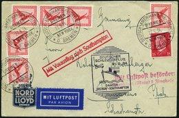 KATAPULTPOST 155c BRIEF, 31.5.1934, Bremen - Southampton, Deutsche Seepostaufgabe, Prachtbrief - Briefe U. Dokumente