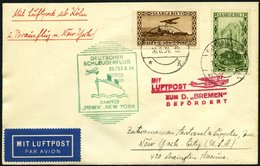 KATAPULTPOST 173Sr BRIEF, Saargebiet: 22.8.1934, &quot,Bremen&quot, - New York, Nachbringeflug, Mit Guter Frankatur, U.a - Briefe U. Dokumente