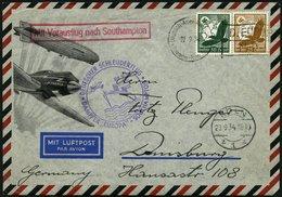 KATAPULTPOST 180c BRIEF, 23.9.1934, &quot,Europa&quot, - Southampton, Deutsche Seepostaufgabe, Prachtbrief - Briefe U. Dokumente