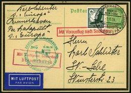 KATAPULTPOST 184c BRIEF, 10.10.1934, Europa - Southampton, Deutsche Seepostaufgabe, Auf 5 Pf. Hindenburg Trauer - Ganzsa - Briefe U. Dokumente