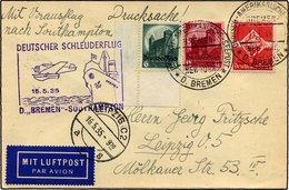KATAPULTPOST 186c BRIEF, 15.5.1935, Bremen - Southampton, Deutsche Seepostaufgabe, Drucksache, Pracht - Briefe U. Dokumente