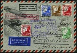 KATAPULTPOST 186c BRIEF, 15.5.1935, &quot,Bremen&quot, - Southampton, Deutsche Seepostaufgabe, Prachtbrief - Briefe U. Dokumente