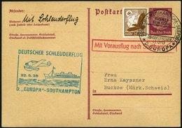 KATAPULTPOST 188c BRIEF, 22.5.1935, &quot,Europa&quot, - Southampton, Deutsche Seepostaufgabe, Auf 5 Pf. Hindenburg - Ga - Briefe U. Dokumente