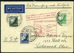 KATAPULTPOST 191b BRIEF, 5.6.1935, &quot,Europa&quot, - New York, Seepostaufgabe, Prachtbrief - Briefe U. Dokumente