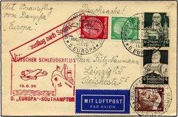 KATAPULTPOST 193c BRIEF, 13.6.1935, Europa - Southampton, Deutsche Seepostaufgabe, Drucksache, Pracht - Briefe U. Dokumente