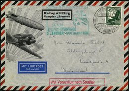 KATAPULTPOST 194c BRIEF, 19.6.1935, &quot,Bremen&quot, - Southampton, Deutsche Seepostaufgabe, Prachtbrief - Briefe U. Dokumente