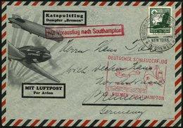 KATAPULTPOST 206c BRIEF, 18.8.1935, &quot,Bremen&quot, - Southampton, Deutsche Seepostaufgabe, Prachtbrief - Briefe U. Dokumente
