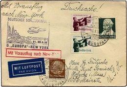 KATAPULTPOST 207b BRIEF, 21.8.1935, Europa - New York, Seepostaufgabe, Drucksache, Pracht - Briefe U. Dokumente