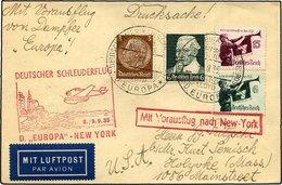 KATAPULTPOST 211b BRIEF, 8.9.1935, Europa - New York, Seepostaufgabe, Drucksache, Pracht - Briefe U. Dokumente