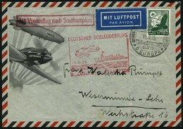 KATAPULTPOST 212c BRIEF, 15.9.1935, &quot,Europa&quot, - Southampton, Deutsche Seepostaufgabe, Prachtbrief - Briefe U. Dokumente