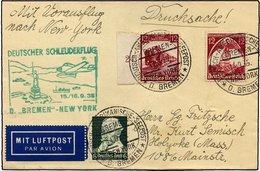KATAPULTPOST 213b BRIEF, 15.9.1935, Bremen - New York, Seepostaufgabe, Drucksache, Pracht - Briefe U. Dokumente