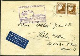 KATAPULTPOST 216c BRIEF, 2.10.1935, Europa - Southampton, Deutsche Seepostaufgabe, Brief Feinst - Briefe U. Dokumente
