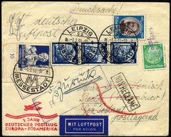 KATAPULTPOST 356 BRIEF, 2.2.1935, 1 Jahr Deutscher Postflug, Roter Sonderstempel, Drucksache Mit Guter Frankatur (u.a. N - Briefe U. Dokumente
