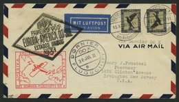 DO-X LUFTPOST 7.b. BRIEF, 13.11.1930, Aufgabe Friedrichshafen, Via Rio Nach Nordamerika, Mit Seltener Mehrfachfrankatur  - Briefe U. Dokumente