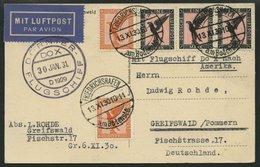 DO-X LUFTPOST 7.c.d. BRIEF, 13.11.1930, Aufgabe Friedrichshafen, Via Rio Nach Europa, Mit Durchgangsstempel 22.IV.31, Fr - Briefe U. Dokumente