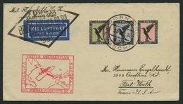 DO-X LUFTPOST 24.c. BRIEF, 30.1.1931, Bordpostaufgabe, Via Rio Nach Nordamerika, Frankiert Mit 1-3 M. Adler, Prachtbrief - Briefe U. Dokumente
