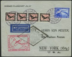 DO-X LUFTPOST DO 8 BRIEF, 3.5.1931, Deutsche Bordpostaufgabe Zum Flug Vila Cisneros-Südamerikafahrt Und Nach Nordamerika - Briefe U. Dokumente