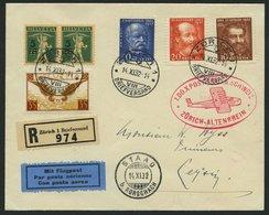 DO-X LUFTPOST 67.CH.a.I. BRIEF, 14.11.1932, Aufgabe Zürich Zum DO X Postflug In Die Schweiz Nach Altenrhein, Ankunftsste - Briefe U. Dokumente