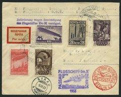 DO-X LUFTPOST 69.d.RU BRIEF, 17.05.1933, Zulieferpost Russland, Ohne Mischfrankatur, Befördert Für Passau-Zürich Flug Vo - Briefe U. Dokumente