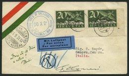 DO-X LUFTPOST DO X2.001.CH BRIEF, 31.08.1931, DO X 2, Postabgabe Trimmis, Blauer Zweikreiser VOLO DI COLLAUDO, Prachtbri - Briefe U. Dokumente