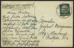 DO-X LUFTPOST 06.04.1934, Grüner Stempel Deutschlandflug 1932 Auf Fotokarte Mit 6 Pf. Hindenburg Aus Flammersfeld, Prach - Briefe U. Dokumente