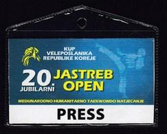 Croatia Zagreb 2018 / Jubilee 20th Jastreb Open, International Humanitarian Taekwondo Competition / Accreditation, Press - Sports De Combat