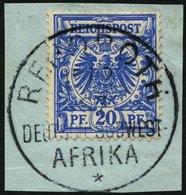 DSWA VS 48dIV BrfStk, 1894, 20 Pf. Violettultramarin Mit Bisher Nicht Gelistetem Seltenen Plattenfehler IV Mittlere Kral - Kolonie: Deutsch-Südwestafrika