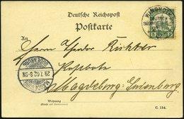 DSWA 12 BRIEF, 1902, 5 Pf. Grün Auf Ansichtskarte Zweite Landwirtschaftliche Ausstellung In Windhoek Von WINDHOEK Nach M - Kolonie: Deutsch-Südwestafrika