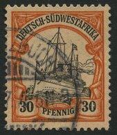 DSWA 16I O, 1901, 30 Pf., Ohne Wz., Mit Abart Striche Vor 3 In Der Linken 30, Feinst, Gepr. Jäschke-L., Mi. 180.- - Kolonie: Deutsch-Südwestafrika