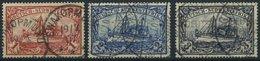 DSWA 20-22 O, 1901, 1 - 3 M. Kaiseryacht, Ohne Wz., 3 Werte Feinst/Pracht, Mi. 143.- - Kolonie: Deutsch-Südwestafrika