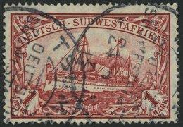 DSWA 29A O, 1912, 1 M. Karminrot, Mit Wz., Stempel TSUMEB, Pracht, Mi. 95.- - Kolonie: Deutsch-Südwestafrika