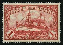DSWA 29B *, 1919, 1 M. Rotkarmin, Mit Wz., Gezähnt B, Falzrest, Pracht, Mi. 50.- - Kolonie: Deutsch-Südwestafrika
