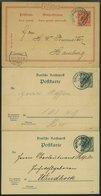 DSWA P2,3,11 BRIEF, 1897-99, 10 Und 5/5 Pf., 3 Gestempelte Karten, Ohne Rückseitigen Text, Pracht - Kolonie: Deutsch-Südwestafrika