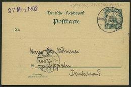 DSWA P 13 BRIEF, 1902, 5 Pf. Grün Mit Stempel WATERBERG, 27.3. (ohne Jahreszahl 1902), Prachtkarte Nach Oppeln - Kolonie: Deutsch-Südwestafrika