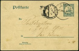 DSWA P 14 BRIEF, 1908, 5 Pf. Grün Von Passagier An Bord Der Prinzregent Nach Las Palmas, Dort Entwertet Und Weiter Nach  - Kolonie: Deutsch-Südwestafrika