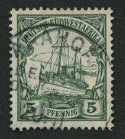 DSWA 25 O, ARAHOAB Auf 5 Pf, Grün, Pracht, Signiert Pauligk - Kolonie: Deutsch-Südwestafrika