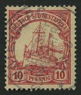 DSWA 13 O, WATERBERG Auf 10 Pf. Dunkelkarminrot, Pracht - Kolonie: Deutsch-Südwestafrika