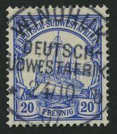 DSWA 14 O, WINDHUK Auf 20 Pf. Violettultramarin, Pracht - Kolonie: Deutsch-Südwestafrika