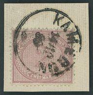 KAMERUN V 37c BrfStk, 1889, 2 M. Mittelrosalila, Stempel KAMERUN Auf Leinenbriefstück, Pracht, R!, Gepr. W. Engel - Kolonie: Kamerun