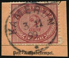 KAMERUN V 37e BrfStk, 1899, 2 M. Dunkelrotkarmin, Stempel KAMERUN, Postabschnitt, Pracht, Mi. (200.-) - Kolonie: Kamerun