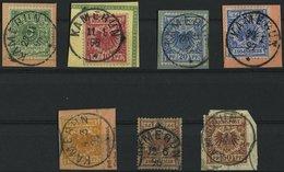 KAMERUN V 46-50 BrfStk, O, 1892-98, 5 - 50 Pf., Stempel KAMERUN, 7 Werte Etwas Unterschiedlich - Kolonie: Kamerun