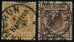 KAMERUN 5a,6 O, 1897, 25 Pf. Gelblichorange Und 50 Pf. Lebhaftrötlichbraun, 2 Prachtwerte, Mi. 82.- - Kolonie: Kamerun