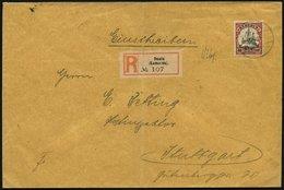 KAMERUN 13 BRIEF, DUALA A, 17.4.13, Einzelfrankatur 40 Pf. Karmin/schwarz Auf Einschreibbrief Nach Stuttgart, Feinst - Kamerun (1915-1959)