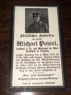 Sterbebild Wk1 Ww1 Bidprentje Avis Décès Deathcard Leutnant Der Reserve Lemberg Verwundet 1915, 1919 Gestorben Salzburg - 1914-18
