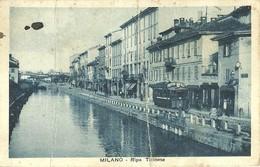 "2698 "" MILANO - RIPA TICINESE - TRAM N° 19 "" CARTOLINA POSTALE ORIG. ANIMATA SPEDITA - Milano"