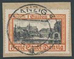 FREIE STADT DANZIG 297 BrfStk, 1938, 1 G. Gelblichrot/schwarz, Zeitgerechte Entwertung, Prachtbriefstück, Kurzbefund Soe - Danzig