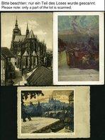 BÖHMEN UND MÄHREN Ca. 1939-43, 37 Verschiedene Alte Ansichtskarten Böhmen Und Mähren, Fast Alle Gebraucht, Viel Prag, Pr - Böhmen Und Mähren