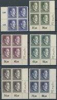 GENERALGOUVERNEMENT 83-88 VB **, 1942, Hitler In Randviererblocks, Bis Auf 50 Gr. Alle Aus Der Rechten Unteren Bogenecke - Besetzungen 1938-45