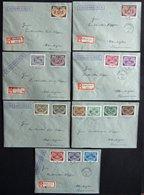 Dienstmarken: 1940, Hoheitszeichen Auf 6 Briefen, Prachtsatz -> Automatically Generated Translation: Official Stamps: 19 - Besetzungen 1938-45
